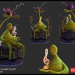 Futuristic Alien Plant 2