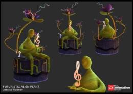 Futuristic Alien Plant 16