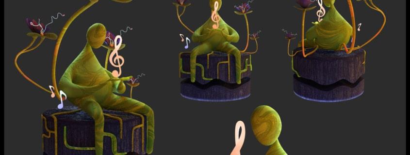 Futuristic Alien Plant 1