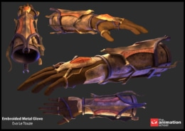 Embroiled Metal Glove 15